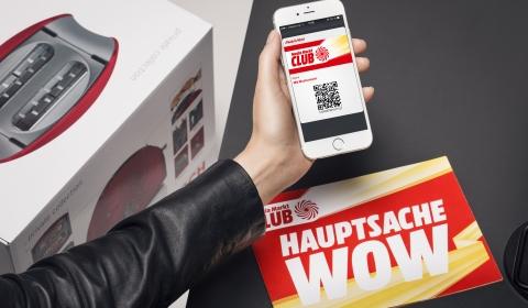 Auf dem Smartphone immer mit dabei: die digitale Club-Karte. Einfach beim Einkauf vorzeigen und sofort von den vielen Vorteilen profitieren.