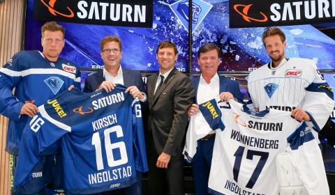 Saturn Pressekonferenz und Trikotvorstellung ERC